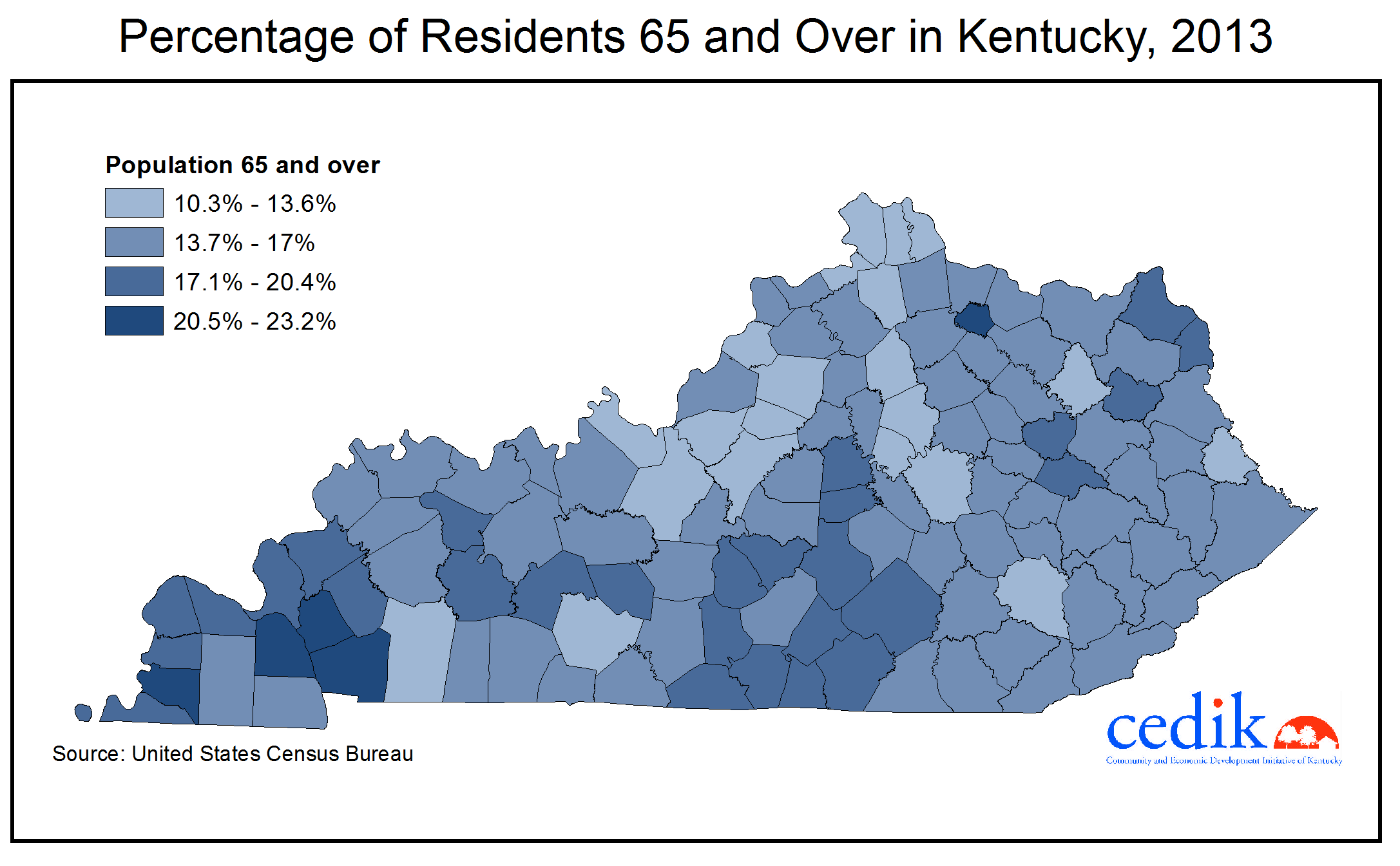 Aging In Kentucky Part  CEDIK Faculty And Staff Blog - Counties by population in us