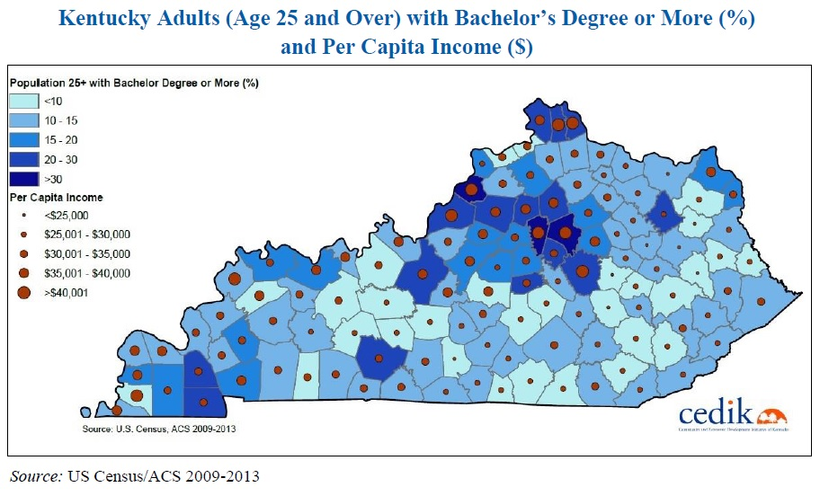 Education Where Does Kentucky Rank Why Does It Matter CEDIK - Kentucky economic map